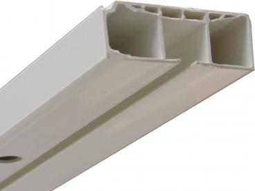Vorhangschiene - 1-lauf - weiß - Kunststoff