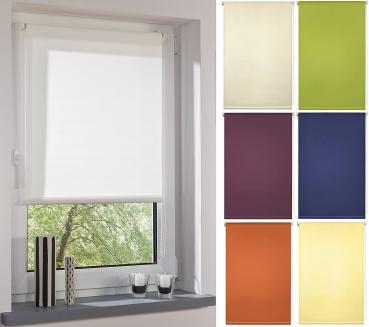 Garduna FIX Tageslicht-Rollo - Smartfix - Klemmfix - ohne Bohren - viele Farben & Größen - lichtdurchlässig/Sichtschutz